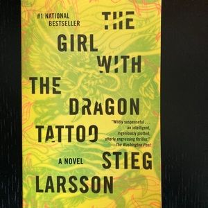 2/$10 Paperback Book -Girl with Dragon Tattoo Book